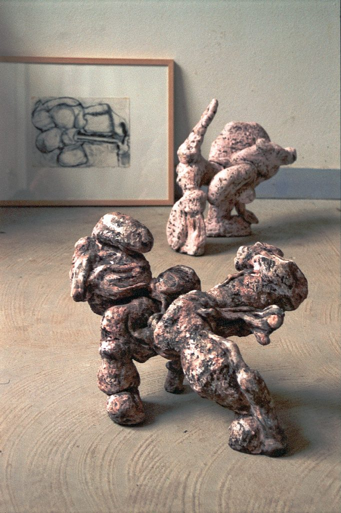 2006 - Nobody - foreground 37x52x33 - Middlelground 47x50x22 - Ceramics