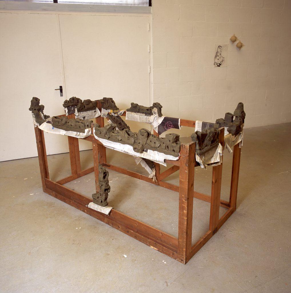 2000 - Settlement - 112x200x100 - Unfired Clay/Woodconstruction/Newspaper
