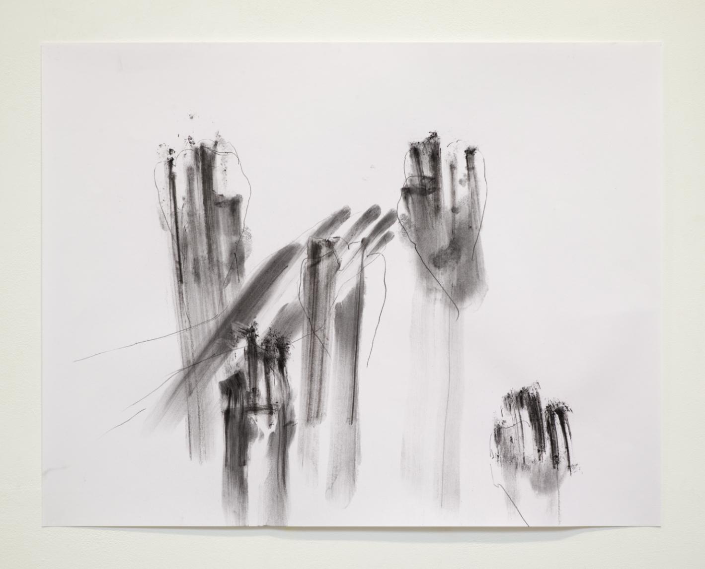 2020- Precariat- 50x65cm- Charcoal and pencil on paper